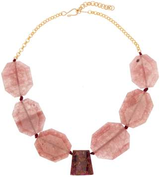 Mulberry Nest Jewelry Quartz Short Necklace