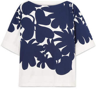Marni Printed Cotton-jersey T-shirt - Blue