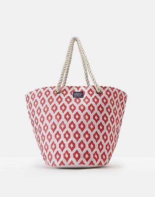 Joules 124760 Womens Beach Bag ONE in Soft Coral in One Size