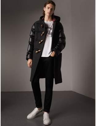 Burberry Down-filled Sleeve Wool Blend Duffle Coat