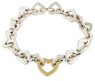 Tiffany & Co. Two-Tone Heart Link Bracelet
