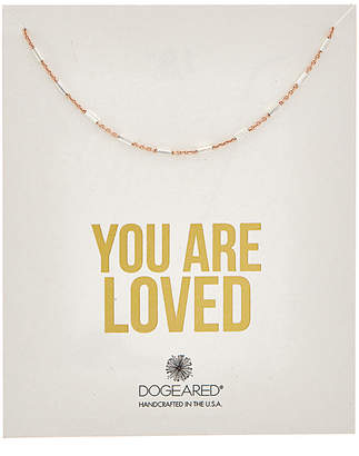 Dogeared Love 14K Rose Gold Over Silver Necklace