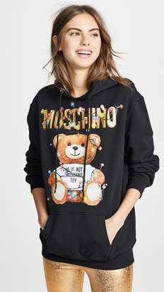 Moschino Christmas Lights Bear Hoodie