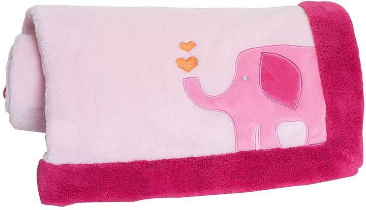 Carter's safari brights elephant fleece blanket