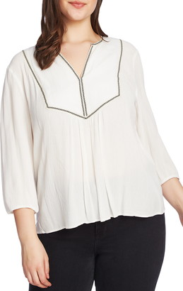 1 STATE 1.STATE Split Neck Blouse