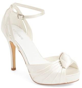 Women's Menbur 'Angelica' Satin Bridal Sandal $134.95 thestylecure.com