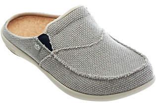 Spenco Siesta Slide Orthotic Slip-on Shoes w/Woven Detail