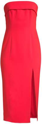 Jay Godfrey Kerr Strapless Front-Slit Dress
