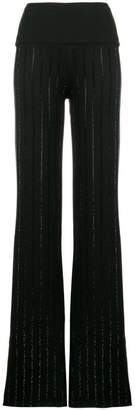 Philipp Plein Strass flared trousers