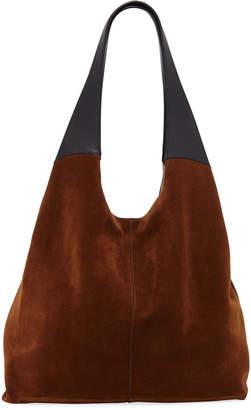 Hayward Grand Shopper Suede Tote Bag, Brown/Black