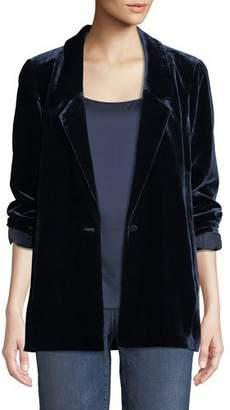 Eileen Fisher Velvet One-Button Blazer, Plus Size