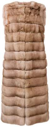 Liska Malva long fur gilet