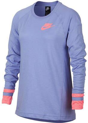 Nike Big Girls Mesh-Sleeve T-Shirt