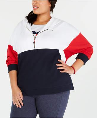 Tommy Hilfiger Plus Size Color Blocked Sweatshirt