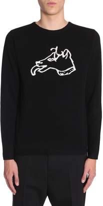 Bella Freud Dog Intarsia Sweater