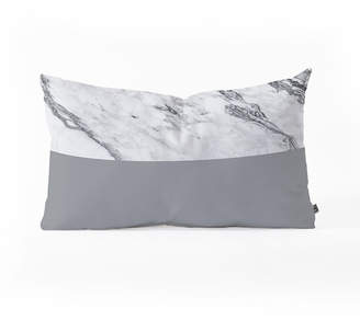 Deny Designs Kelly Haines Gray Oblong Throw Pillow