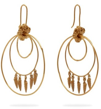 Orit Elhanati - Lolita Gold Plated Hoop Earrings - Womens - Gold