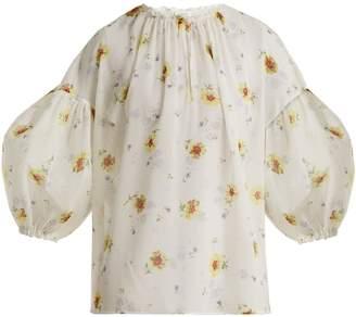 Giambattista Valli Silk-georgette floral-print blouse