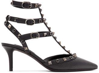 Valentino Black Garavani Onyx Rockstud Cage Heels