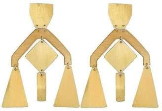 "Ricardo Rodriguez Design Brass Earrings ""Chandelier"""