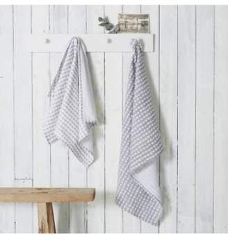 The White Company Set of 2 Heart Print Tea Towels