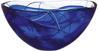 Kosta Boda Contrast Glass Bowl, Blue, 35cm