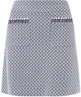 Dorothy Perkins Womens Blue Geometric Print Mini Skirt