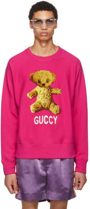 Gucci Pink Guccy Teddy Bear Sweatshirt