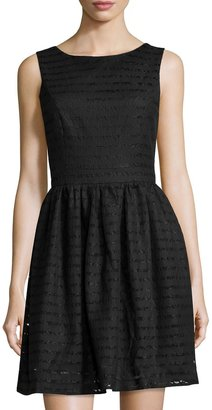 Philosophy Striped Lace Sleeveless Dress, Black $75.50 thestylecure.com
