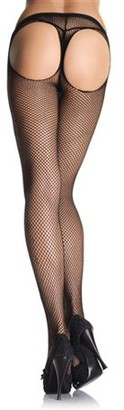 Leg Avenue Women's Thong Back Fishnet Pantyhose, Black, One Size