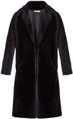 Inès & Marèchal Colette peak-lapel shearling coat