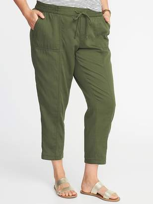 Old Navy Plus-Size Mid-Rise Soft Utility Cropped Pants