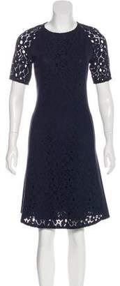 Rene Lezard Knee-Length Lace Dress