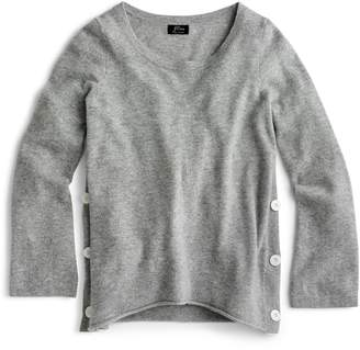 J.Crew Everyday Cashmere Side Button Sweater