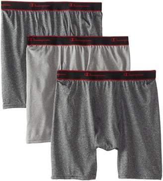 Champion Men's 3-Pack Active Performance Regular Leg Boxer Briefs