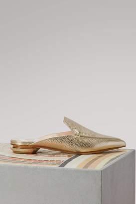 Nicholas Kirkwood Beya Metallic Leather Mules