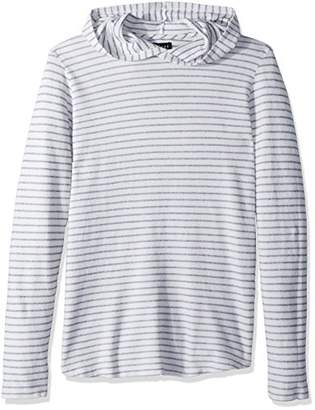 Velvet by Graham & Spencer Men's Beachy Striped Terry Hoodie