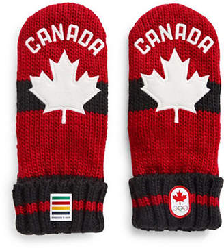 CANADIAN OLYMPIC TEAM COLLECTION Youth Red Mittens