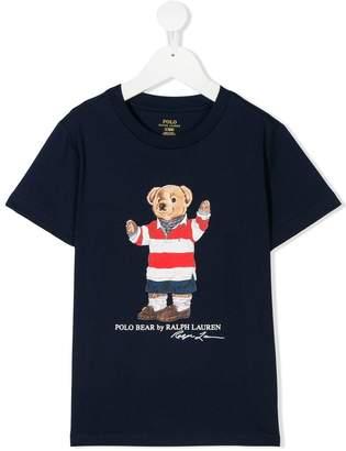 Ralph Lauren Kids Polo bear logo print T-shirt