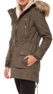 Dex Faux Fur-Trimmed Hooded Cotton Parka