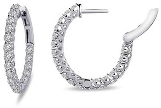 Women's Lafonn 'Lassaire' Oval Hoop Earrings $170 thestylecure.com