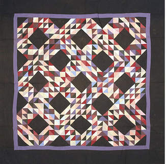 One Kings Lane Vintage Geometric Quilt