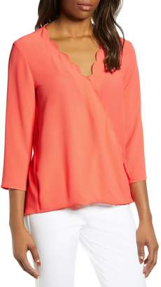 Gibson x International Women's Day Rebecca Scalloped Wrap Top