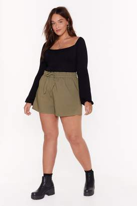 Nasty Gal Tie Your Best Plus High-Waisted Shorts