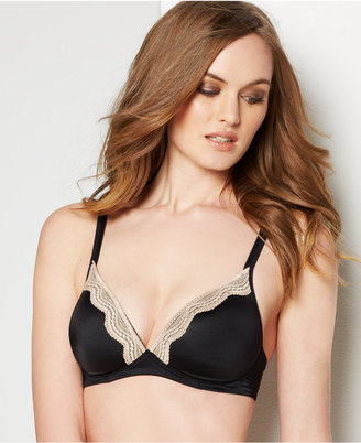 Warner's Elements of Bliss Wireless Lift & Lace Bra RO1981A $38 thestylecure.com