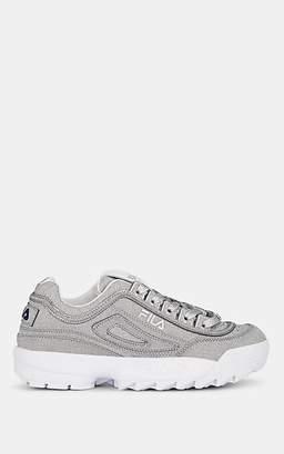 Fila Women's Disruptor II Glitter Sneakers - Silver