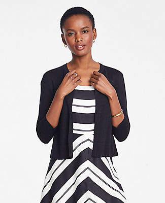 Ann Taylor Petite Linen Blend Dress Cardigan
