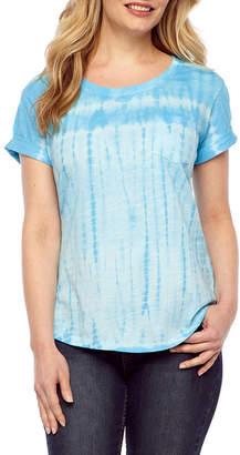 A.N.A Womens Round Neck Short Sleeve T-Shirt Petite