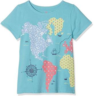 Fat Face Girl's Map Graphic T-Shirt,(Manufacturer Size: 6-7)
