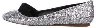 Stella McCartney Glitter Round-Toe Flats